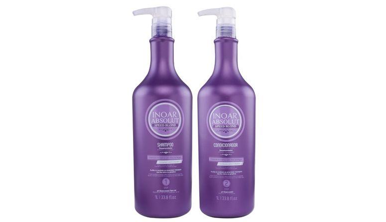 Saç Shop'ta R $ 182,90 için Şampuan ve saç kremi matizadores Absolut Hız Sarışın Inoar