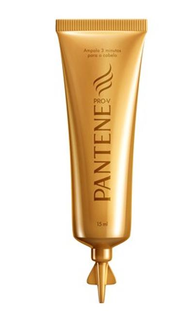 Ampola 3 Minutos Milagrosos, Pantene, promete cabelos hidratados, saudáveis e brilhantes | R$ 5,99 (unidade)