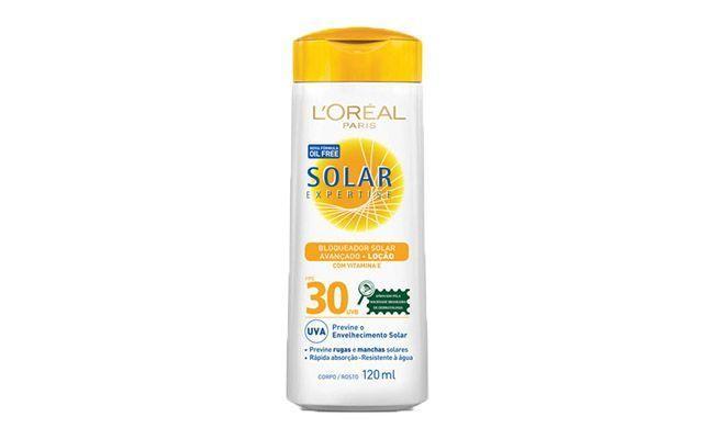 "Bloqueador Solar Loréal Expertise por R$29,90 na <a href=""http://www.netfarma.com.br/Produto/19840/bloqueador-solar-loreal-expertise-avancado-fps-30-locao-oil-free?gclid=CI31n8-9qLwCFZBj7Aod43MA3Q"" target=""blank_"">Netfarma</a>"