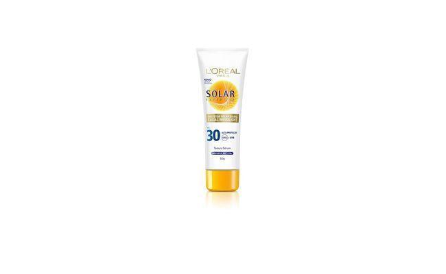 "Solar Expertise Facial Invisilight FPS 30 - L'Oréal Paris por R$ 28,40 na <a href="" http://www.netfarma.com.br/Produto/25547/protetor-solar-loreal-expertise-invisilight-fps-30?gclid=CMipyJuTvboCFdJZ7AodJWEA-Q"" target=""_blank"">Netfarma</a>"