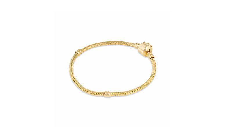 """Pulseira folheada dourada por R$59,90 na <a href=""""http://www.amoberloque.com.br/pulseira-folheada-dourada-ii-pr-2419-358069.htm"""" target=""""blank_"""">Amo Berloque</a>"""