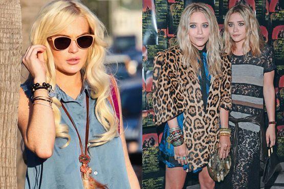Lindsay Lohan e as irmãs Mary Kate e Ashley Olsen
