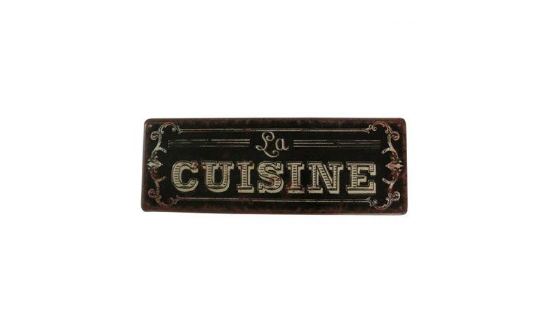 """Placa Cuisine por R$41,00 na <a href=""""https://www.popdecor.com.br/cozinha/quadro-painel-lousa/placa-old-fashioned-cuisine.html """" target=""""blank_"""">Pop Decor</a>"""