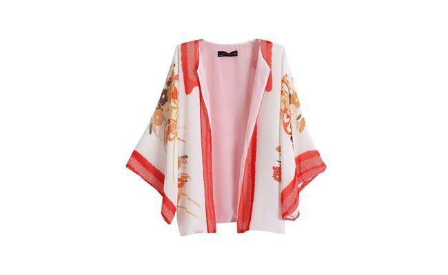 "Quimono casaco de chiffon por US $ 22.0 na <a href=""http://pt.aliexpress.com/item/2013-autumn-new-European-style-flower-print-chiffon-kimono-jacket-chiffon-shirt-coat-jacket/1190351695.html"" target=""_blank"">Ali Express</a>"