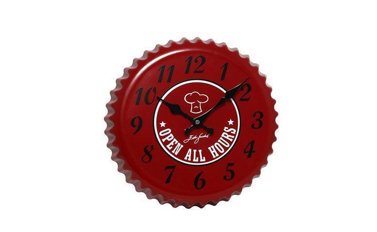 """Relógio de parede Bom Gourmet por R$96,09 na <a href=""""http://www.americanas.com.br/produto/123149711/relogio-de-parede-bon-gourmet-analogico-tampa-de-garrafa-edu-guedes-20197"""" target=""""blank_"""">Lojas Americanas</a>"""