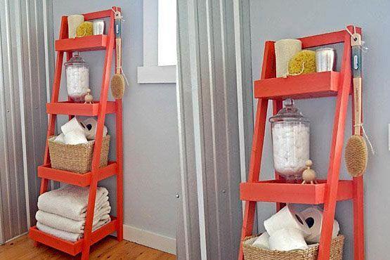 Dê novos usos a objetos antigos e renove o visual do banheiro.