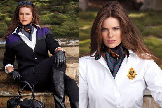 Imagens da campanha da Ralph Lauren com a modelo Robyn Wayley.