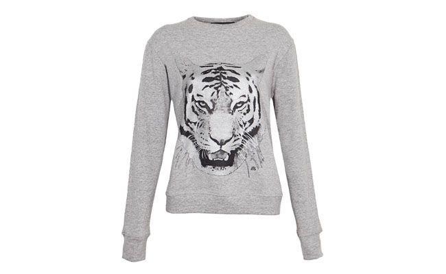 Blusa Tiger Cinza Andrea Bogosian por R$475,90 na Dafiti