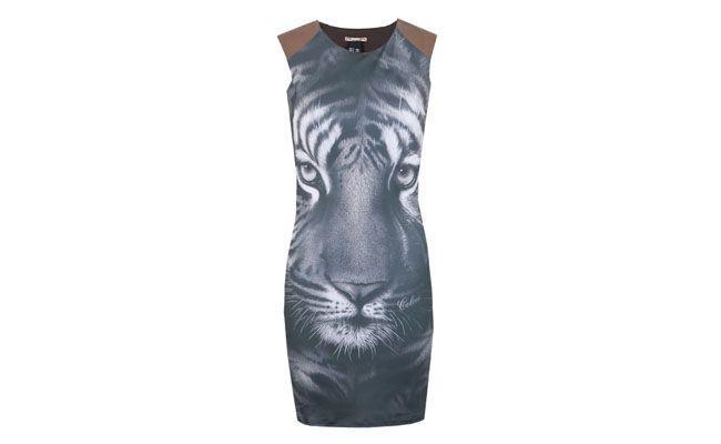 Vestido Tigre Cinza Colcci por R$256 na Dafiti