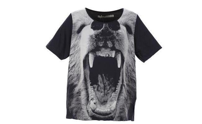 Blusa Espaço Fashion Silk Corrosao Animal Preta por R$132 na Glamour