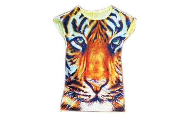 Blusa de Seda Animal Face por R$45 na Kebal