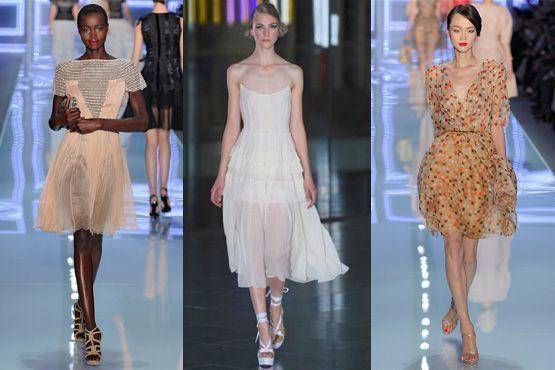 Modelos Dior, Jonathan Saunders e Dior
