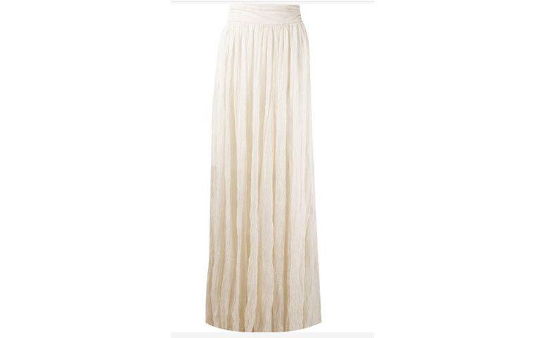 تنورة طويلة من قماش رقيق شفاف لR $ 890.00 في Farfetch