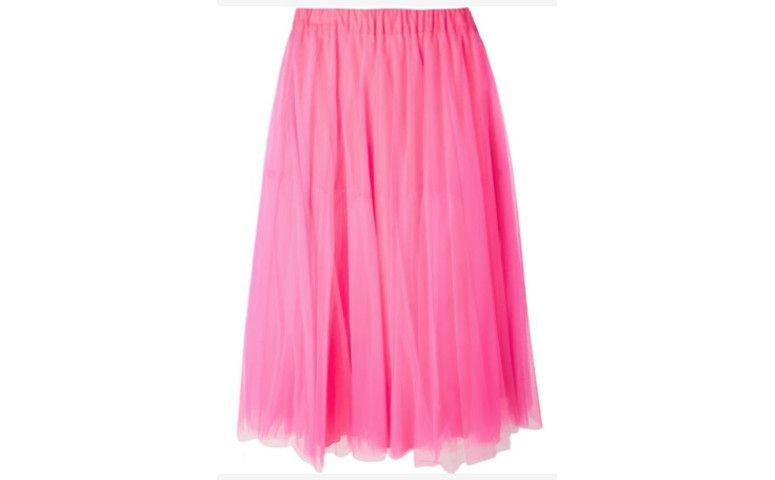 تنورة تول الوردي كتبها R $ 1،360.00 في Farfetch