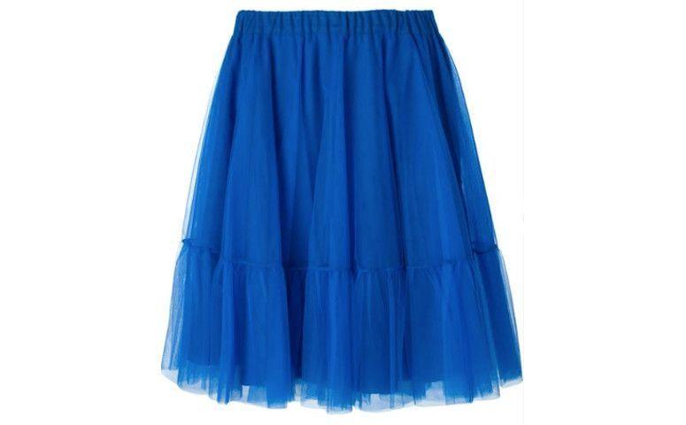 تنورة تول الأزرق للR $ 1310.00 في Farfetch