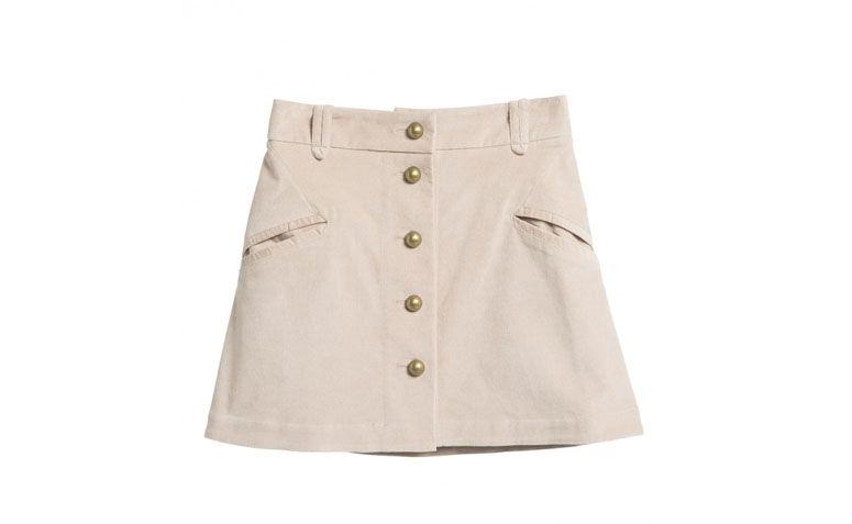 Retro Aksamitna spódnica przez R $ 129,90 w Amaro