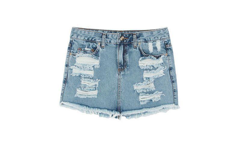 "Saia jeans detonada por R$ 199,00 na <a href=""http://www.oqvestir.com.br/saia-jeans-284-detonada-azul.html?new"" target=""_blank"">Oqvestir</a>"