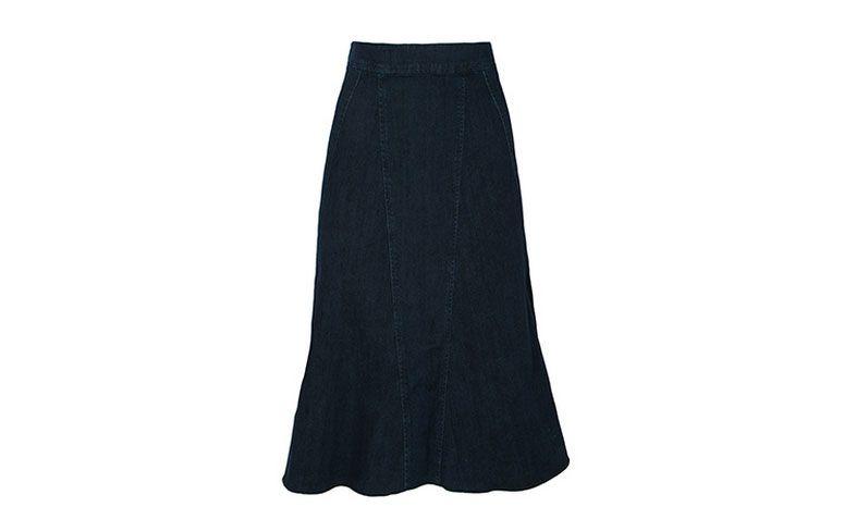 "Saia midi Animale por R$ 397,00 na <a href=""http://www.oqvestir.com.br/saia-midi-animale-jeans-azul.html?new"" target=""_blank"">Oqvestir</a>"