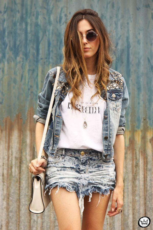 "Foto: Reprodução / <a href=""http://fashioncoolture.com.br/2014/10/26/denim-skirt-degrant-saia-jeans/ "" target=""_blank"">Fashion Coolture</a>"