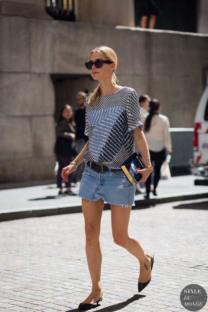"Foto: Reprodução / <a href="" http://www.styledumonde.com/2015/09/new-york-fashion-week-ss-2016-street-style-pernille-teisbaek-3/ "" target=""_blank"">Style dy monde</a>"