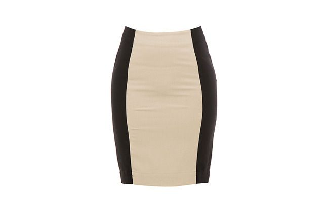 Pencil skirt Beige Bicolor by RS234,50 in Lorane