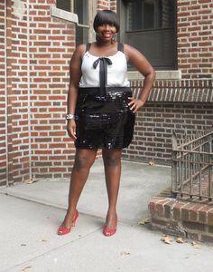 "Foto: Reprodução / <a href=""http://stylishcurves.com/gotta-love-a-sequin-skirt/"" target=""_blank"">Stylish Curves</a>"