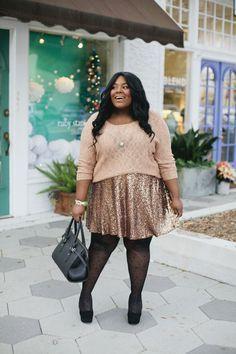 "Foto: Reprodução / <a href=""http://musingsofacurvylady.com/just-wear-sequins/"" target=""_blank"">Musing of a curvy lady</a>"