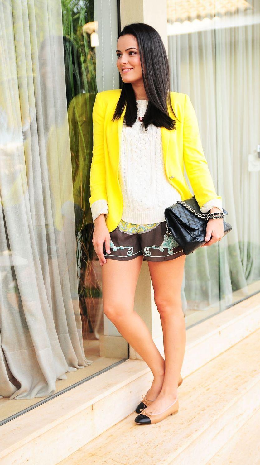 """Foto: Reprodução / <a href=""""http://www.blogdamariah.com.br/index.php/2012/06/look-do-dia-short-estampado/"""" target=""""_blank"""">Blog da Mariah</a>"""