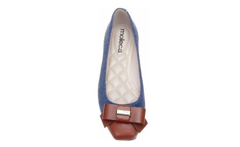 Moleca Sneaker dengan kaki dan renda untuk R $ 47,92 di Zattini