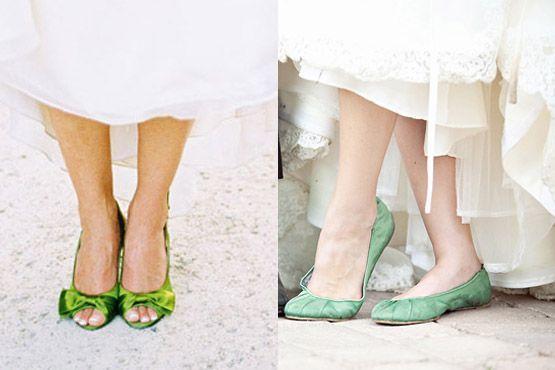 Sapatos baixos coloridos