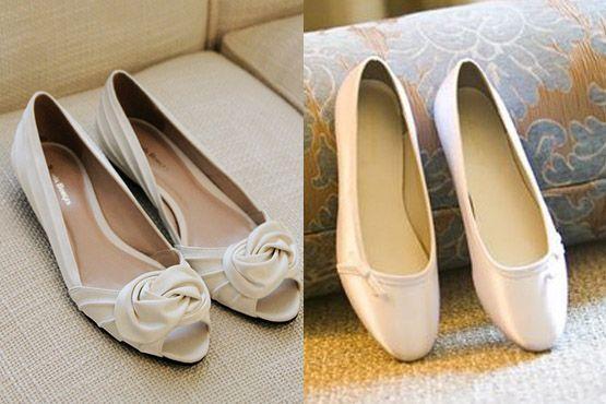 sapato baixo noivas 3 Sapatos baixos para noivas