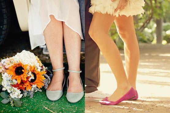 Sapatos coloridos