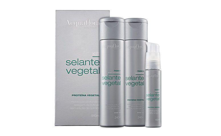 "Selante vegetal Acquaflora por R$86,99 na <a href=""http://ad.zanox.com/ppc/?28065144C20970194&ULP=[[https://www.belezanaweb.com.br/acquaflora-kit-de-tratamento-selante-vegetal-3-produtos?utm_source=Parcerias_Zanox&utm_medium=publisher_deeplink&utm_campaign=Parcerias_Zanox&origem=zanox]]"" rel=""nofollow"" target=""blank_"">Beleza na Web</a>"