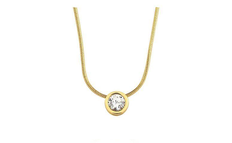 """Colar ponto de luz banhado a ouro por R$57,00 na <a href=""""http://www.toquedejoia.com/produto/01CO0287000/colar-semijoia-ponto-de-luz-grande-zirconia"""" target=""""blank_"""">Toque de Joia</a>"""