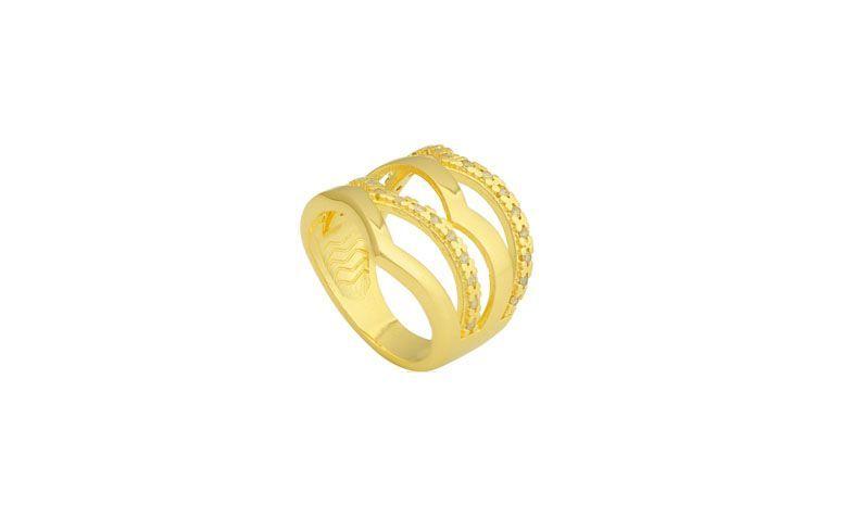 """Anel folheado a ouro cravejado com zircônias por R$129,90 na <a href=""""http://www.riverajoias.com.br/produto.php?produto=1326-anel-cravejado-com-zirconias-semi-joia"""" target=""""blank_"""">Rivera Joias</a>"""