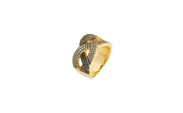 """Anel folheado a ouro com zircônias por R$196,90 na <a href=""""http://www.riverajoias.com.br/produto.php?produto=1141-anel-cravejado-com-zirconias-semi-joia"""" target=""""blank_"""">Riveja Joias</a>"""