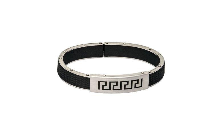 """Bracelete em aço com banho de ródio por R$190,00 na <a href=""""http://www.vika.com.br/bracelete-semi-joia-10684.aspx/p"""" target=""""blank_"""">Vika</a>"""