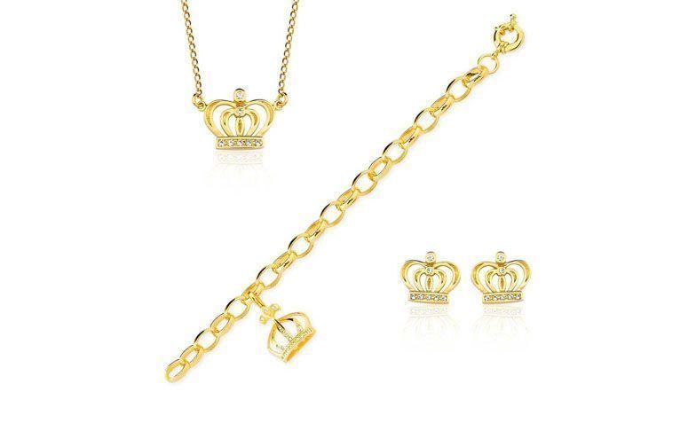 """Conjunto folheado a ouro colar+pulseira+brincos por R$274,50 na <a href=""""http://www.toquedejoia.com/produto/01KO0038000/conjunto-semijoia-folheado-ouro-18k-eterna-namorada"""" target=""""blank_"""">Toque de Joia</a>"""