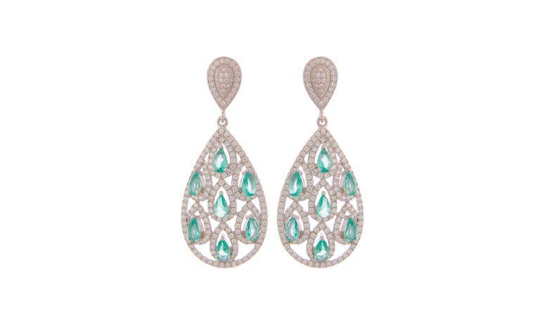 """Brinco ouro branco com cristais e zircônia por R$399,90 na <a href=""""http://www.riverajoias.com.br/produto.php?produto=1283-brinco-ouro-branco-cristais-e-zirconias-semi-joia"""" target=""""blank_"""">Rivera Joias</a>"""
