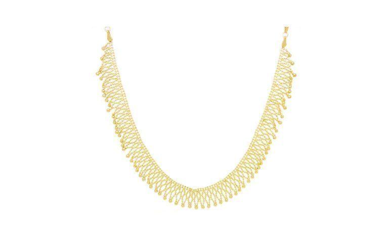 """Colar de franjas folheado a ouro por R$194,90 na <a href=""""http://www.riverajoias.com.br/produto.php?produto=1227-colar-franjas-folheado-a-ouro-semi-joia"""" target=""""blank_"""">Rivera Joias</a>"""
