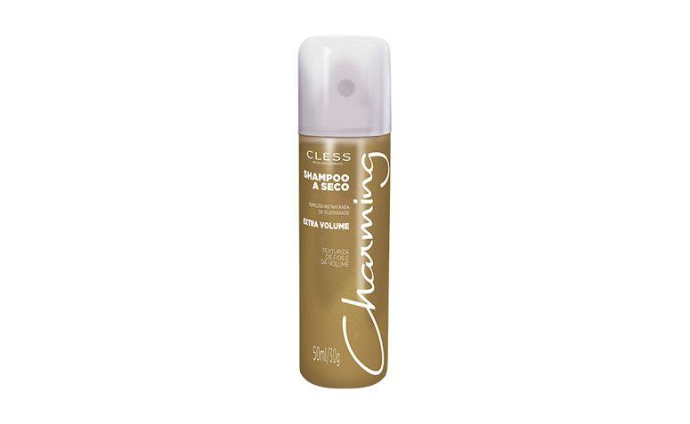 """Shampoo seco Charming Extra Volume por R$9,85 na <a href=""""http://www.netfarma.com.br/produto/36574/shampoo-seco-charming-extra-volume"""" target=""""blank_"""">Netfarma</a>"""