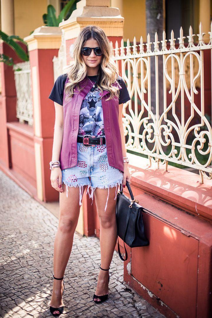 "Foto: Reprodução / <a href=""http://www.blogdathassia.com.br/br/2013/05/23/meu-look-jeans-short/"" target=""_blank"">Blog da Thássia</a>"