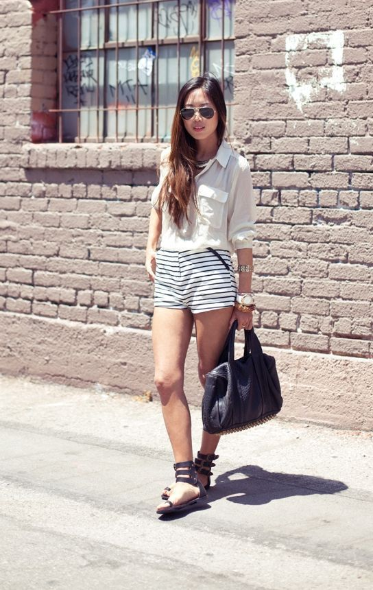 "Foto: Reprodução / <a href=""http://www.songofstyle.com/2011/07/horizontal-stripes.html"" target=""_blank"">Song of Style</a>"
