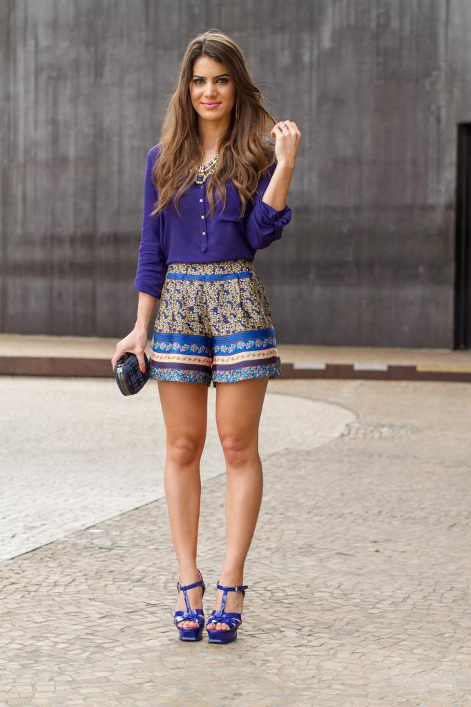 """Foto: Reprodução / <a href=""""http://camilacoelho.com/2013/03/28/meu-look-spfw-dia-5/"""" target=""""_blank"""">Camila Coelho</a>"""
