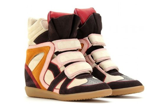 Wedge sneaker colorido, Isabel Marant.