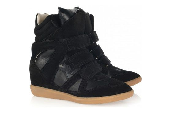 Wedge sneaker monocromático, Isabel Marant.