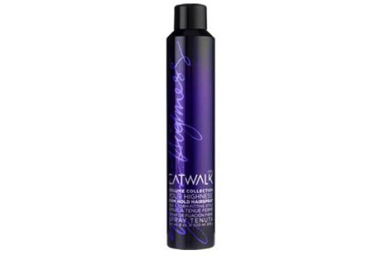 Spray fixador para cabelos minguados