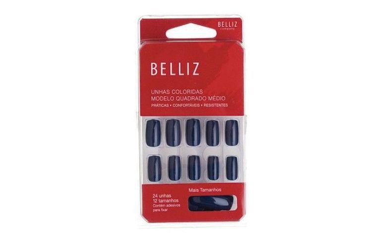 """Unhas Belliz Blue Intense - Azul - 1261 por R$ 13,90 na <a href=""""http://www.casadasunhas.com.br/comprar-unhas-belliz-blue-intense-azul"""" target=""""blank_"""">Casa das Unhas</a>"""