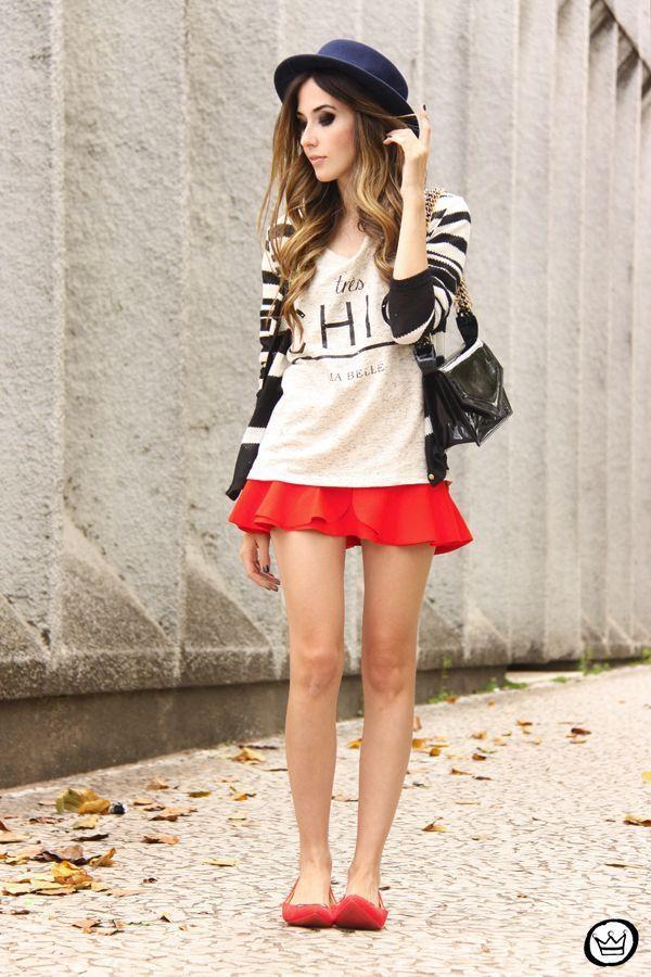 """Foto: Reprodução / <a href=""""http://fashioncoolture.com.br/2013/11/25/look-du-jour-tres-chic-ma-belle/"""" target=""""_blank"""">Fashion Coolture</a>"""