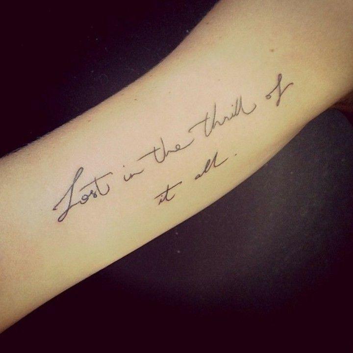 Tatuagens Escritas Trechos E Frases Para Inspirar Sua